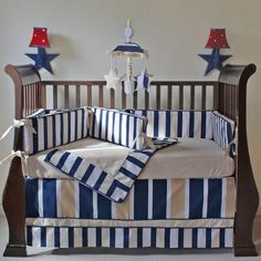Tan and navy nursery if Baby Sweatt is a boy.