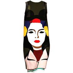 Prada S/S 2014 - @mrekulli ❤ liked on Polyvore featuring dresses, prada, art and prada dresses