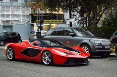 FXXK styling . Your thoughts? #Ferrari #LaFerrari #FXXK #Chrome #MatteBlack #PZero