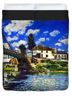 David Bridburg Duvet Cover featuring the digital art Inv Blend 14 Sisley by David Bridburg