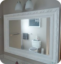 Love at Home: Vanity Mirror Re-do (and Mini Bathroom Update)