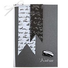 Vivi Gade Paris-sarjasta löydät ihania mustavalkoisia kuviopapereita ylioppilaskortteihin. Tarvikkeet ja ideat Sinellistä!