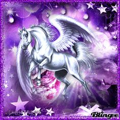 animated pegasus gif | for a pegasus unicorn challenge tags jenniferswe pegasus purple