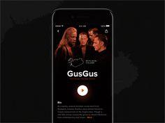 iOS Music App Prototype by Fedor Shkliarau #Design Popular #Dribbble #shots