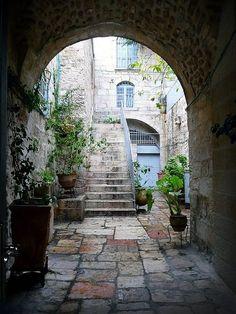 Precioso rinconcito de una callejuela de la vieja ciudad de Jerusalem.