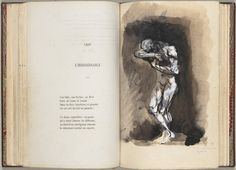 1857- Las flores del mal de Charles Baudelaire    Dibujada por Rodin en 1887-88
