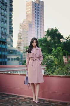 #milkcocoa | 트렌치 트렌트 코트 | classy & feminine style Korean Fashion Office, Korean Fashion Tomboy, Korean Fashion Minimal, Korean Fashion Winter, Korean Winter, Dope Outfits, Classy Outfits, Casual Outfits, Fashion Outfits