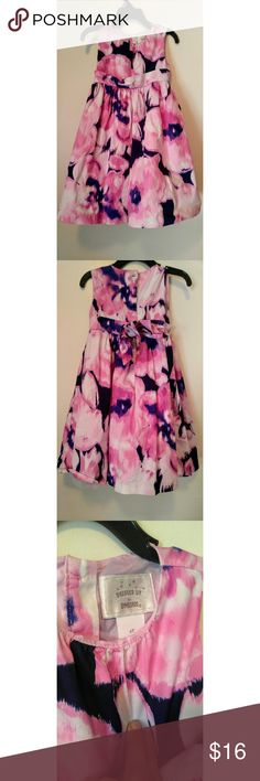 Gymboree All Dressed Up Watercolor Dress 4t Like new purple, pink and white dress. Gorgeous colors for spring and summer Gymboree Dresses