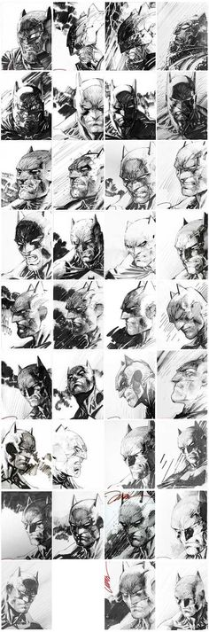 DarkKnight III 1 in 5000 Retailer Incentive Variant Sketches