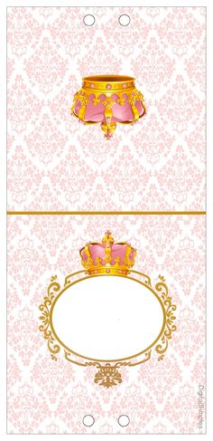 Golden Crown in Pink: Free Printable Candy Bar Labels. Princess Birthday, Princess Party, Girl Birthday, Free Printable Cards, Printable Designs, Candy Bar Princesas, Party Printables, Free Printables, Candy Bar Labels