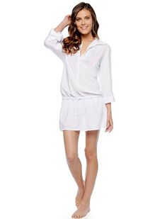 FINAL SALE 	Contemporary chic tunic 	Perfect as a swimsuit coverup 	Staple colorways