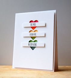 To You. From Me. With Love Card by Cristina Kowalczyk for Papertrey Ink (February 2013)