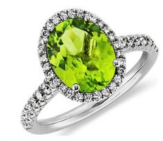 Blue Nile Peridot and Diamond Ring from Blue Nile, perfect for an August baby, peridot is this month's birthstone!