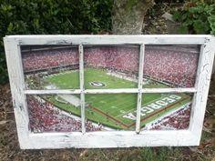 University of Georgia Football Window by WindowsbyLauren on Etsy, $100.00