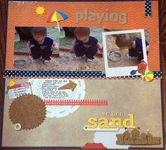 Scraplifter Designs - PROJECT Life - 365: Playing in the Sand - New Layout