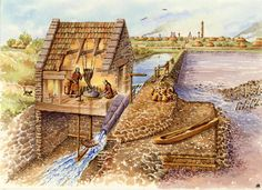 """""""The world's earliest tidal mill dates back to Roman London, on the estuary of the River Fleet. (The oldest remains are in Ireland). Once a broad tidal basin, in Roman times the Fleet was several hundred feet wide."""" Marilyn Todd"""