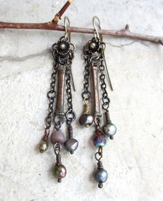 The Sweetest Thing. artisan beaded earrings by beatnheart on Etsy