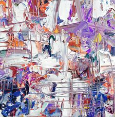 Wild Orchid   abstract painting 2014   adamcohenstudio.com