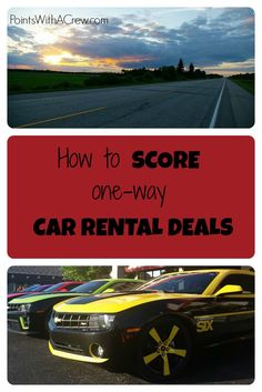 Top tips on how to get cheap one way car rental deals for road trips and other travel!