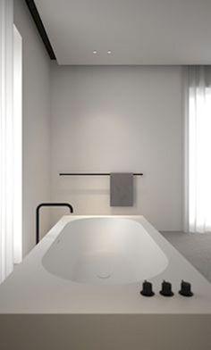 Modern Bathroom Decor Ideas Match With Your Home Design Minimalist Bathroom Design, Interior Design Minimalist, Bathroom Design Luxury, Modern House Design, Modern Bathroom, Bathroom Taps, Minimal Bathroom, Modern Minimalist, Bathroom Towels