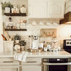 Wow me on the weekends gathered by CountyRoad407.com #coffeestation #winterdecorating #wowmeontheweekend #countyroad407 Kitchen Cabinet Colors, Kitchen Reno, Kitchen Dining, Kitchen Remodel, Kitchen Island, Kitchen Cabinets, Dining Rooms, Kitchen Ideas, French Country Cottage
