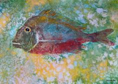A wonderful way to paint using fish rubbing