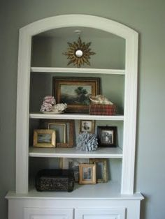 BOOKSHELF STYLING  FROM: heirloom philosophy:   Layering in the Living Room