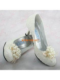 ElegantHighHeel2.76''PearlLacePUBridalShoes2011