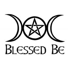 Blessed Be Triple Moon and Pentagram
