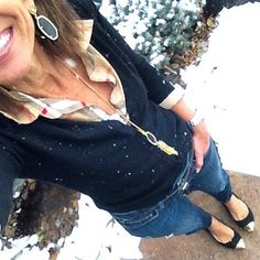 """""""It's Wednesday Day 21 of my #January #WinterFashion #StyleChallenge and It's #snowing ❄️❄️ here in #Colorado, and boy am I glad I work from home... …"""""""