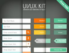 "Check out this @Behance project: ""UI/UX Flat design - Free PSD"" https://www.behance.net/gallery/8042281/UIUX-Flat-design-Free-PSD"