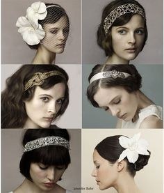 1920's Women hair and headpiece's.