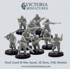 Victoria Miniatures - penal legion, steam punk, goatmen