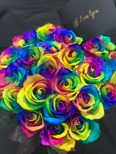 🌈 You make me happier than I've ever been, I love you! Beautiful Rose Flowers, Wonderful Flowers, Unique Flowers, All Flowers, Colorful Flowers, Rainbow Flowers, Rainbow Colors, Rose Delivery, Leg Art