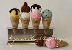 Crochet Ice Cream/Rattle Pattern available here: http://suzannehoughtondesigns.bigcartel.com/category/crochet-patterns