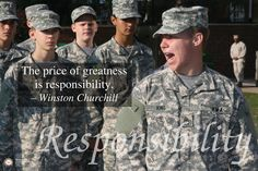 Responsibility was the character trait for October 2012. #hargrave #military school #character development #responsibility