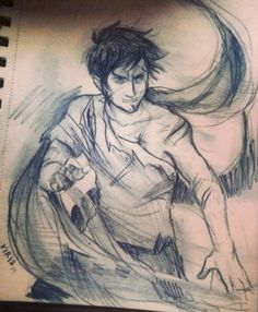 Percy Jackson. Hey y'all, go follow Meaghan Nicole!! She's awesome, and my best friend.. :)