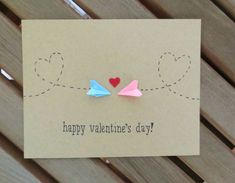 happy valentines day! This cute valentines day card is perfect for those in a long distance relationship or anyone who loves paper airplanes. It