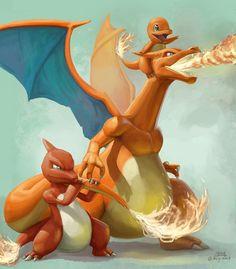 Artwork from the Pokemon universe. Pichu Pokemon, Charmander Charmeleon Charizard, Fire Pokemon, Pokemon Dragon, O Pokemon, Pokemon Fan Art, Pokemon Cards, Pokemon Sketch, Pokemon Images