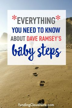 Learn about financial guru Dave Ramsey's Baby Steps and start your journey to financial peace today! Budgeting tips. Financial Guru, Financial Peace, Financial Planning, Financial Literacy, Best Money Saving Tips, Money Tips, Saving Money, Planning Budget, Interior Desing