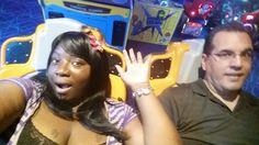 Playing around in the arcade. That game was wild. Almost lost my wig...lol
