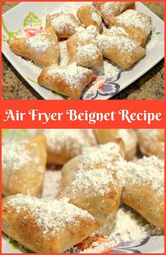 Air Fryer Beignet Recipe: New Orleans Beignets Having been born and raised in New Orleans I regularly have a craving for the famous beignets. This Air Fryer Beignet recipe it saves me some calories! - Air Fryer Beignet Recipe: New Orleans Beignets Recipe Air Fryer Recipes Breakfast, Air Fryer Dinner Recipes, Air Fryer Oven Recipes, Air Fryer Rotisserie Recipes, Air Fryer Recipes Donuts, Breakfast Crockpot, Air Fryer Recipes Wings, Air Fryer Recipes Potatoes, Desert Recipes