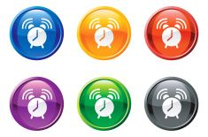 Alarm clock button royalty free vector art vector art illustration