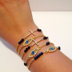 Evil Eye and sideway cross arm party!