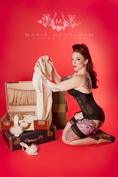 Pinup Model Lisa Luxe   www.mariegranthamphotography.com  Las Vegas Photographer | Pin Up Photo Shoot