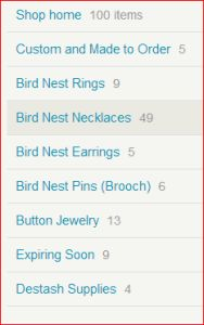 The problem with shop sections on Etsy Debnests Shop Sections