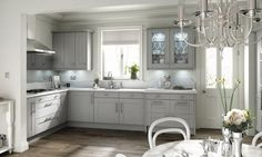 Grey Fitted #Kitchens
