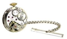 11363908 Winder re-purposed watch lapel pin/tie pin