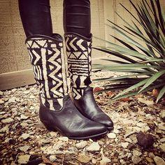 Santa Fe Style Vintage Boots by HAROLDSandMAUDES on Etsy, $30.00