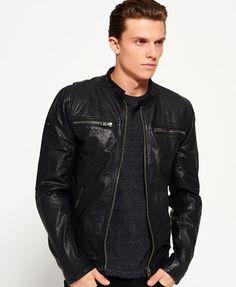 Superdry Real Hero Biker Jacket  Black